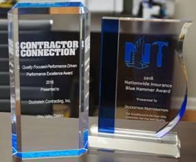 blue hammer award Duckstein Restoration